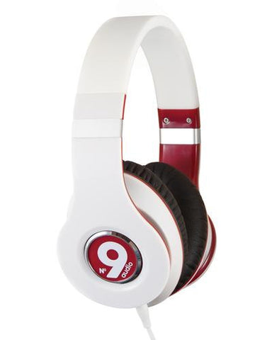 nineaudio vega red and white headphones