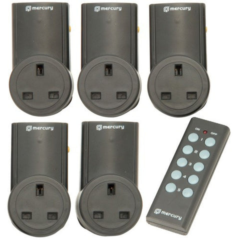 remote controlled mains socket adapter