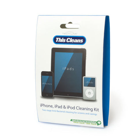 techlink 511014 this cleans range anti-bacterial iphone wipes for smartphones and tablets