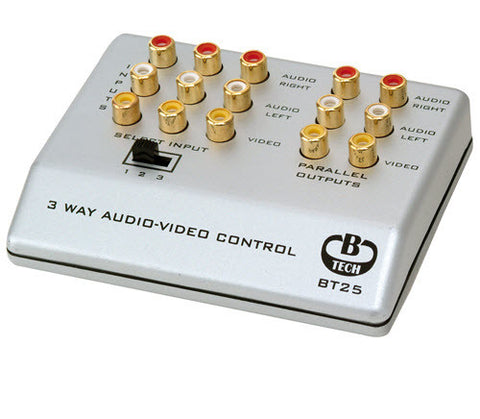 b-tech bt25 audio and video switch box