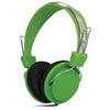 sound lab green headband light weight headphones