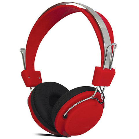 red soundlab stereo headphones