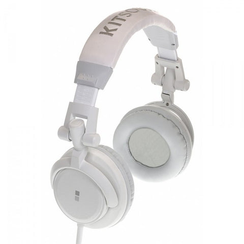 kitsound dj headphones white