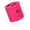 KitSound PocketBoom Portable Rechargeable Bluetooth Blue Speaker For iPhone, Android, iPad, Tablet, Smartphone Pink