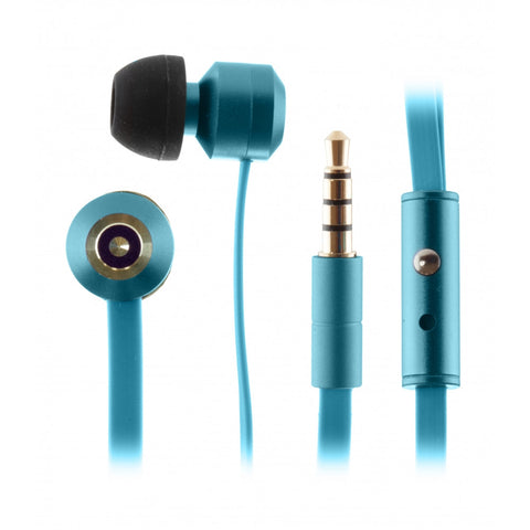 kitsound ribbons in ear headphones in blue for iphone