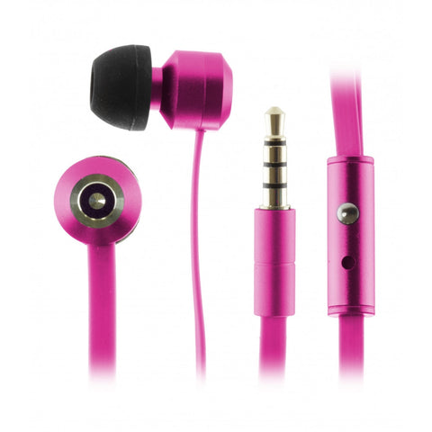Kitsound Ribbons Flat Cable Earphones with Mic in Purple KSRIBBPU