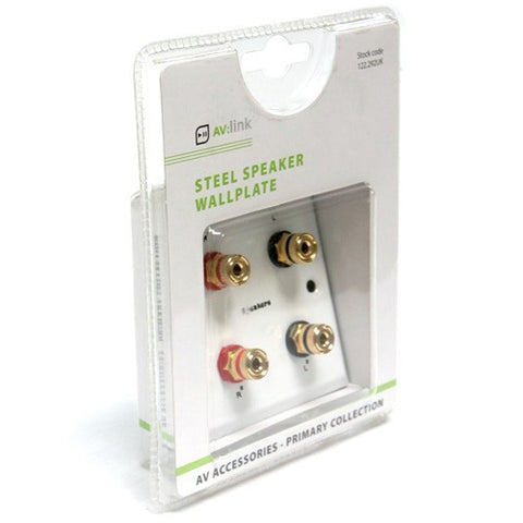 speker wall plate for banana plugs 4mm sockets