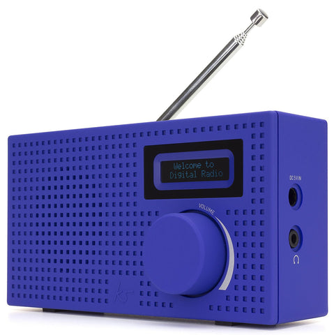 KitSound KSPIXBL Pixel Portable Mini DAB Radio and Alarm Clock Blue