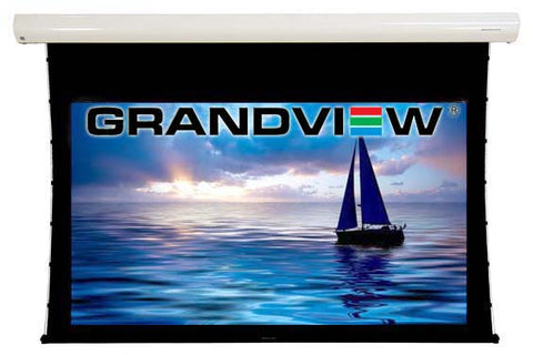 grandview cyber series electric tab tensioned tabbed electric projector screen