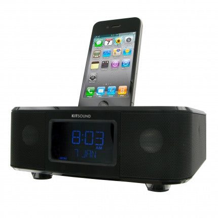 kitsound boom clock ipod dock