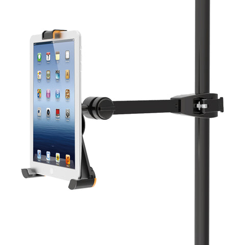 ipad mini and most 7 8 5 tablet holder for microphone music stands av storm. Black Bedroom Furniture Sets. Home Design Ideas