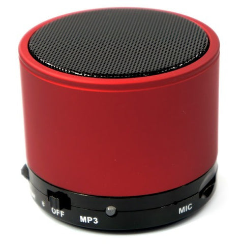 Bluetooth Rechargeable Speaker For iPhone iPod smartphone Handsfree and Micro SD Slot. Red