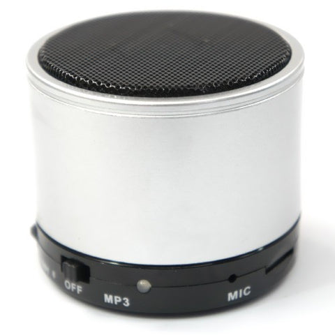 Bluetooth Portable Rechargeable Speaker For iPhone iPad smartphone with Micro SD Slot. Silver