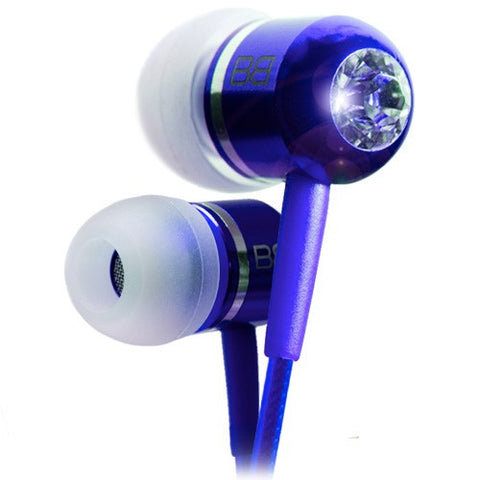bassbuds in ear headphones blue