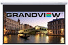 grandview cyberseries electric projector screen for wall or ceiling mounting