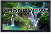 grandview cyberseries fixed frame acoustic wall mounted projector screen