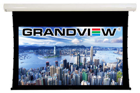 Grandview Cyber Series Acoustic Tab Tensioned 16:9 Projector Screen with Remote Control