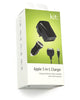 Kit Apple 30-pin 3 in 1 Mains, In-Car and USB Charger 2.1A. IPADUMPC