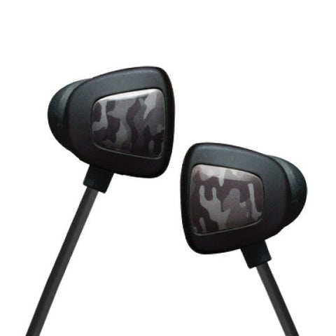 EOps NoiseZero iX In-ear Headphones with Mic Grey Camo For Smartphones iOS and Android