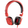 kitsound ks clash two tone red headphones with microphone