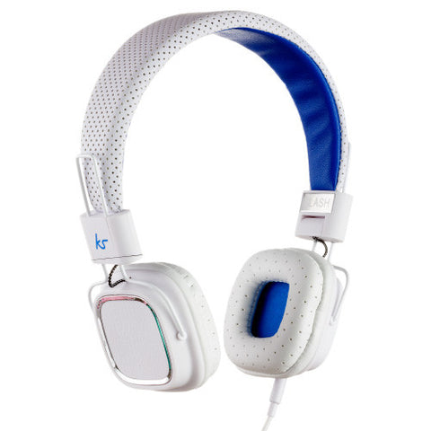 clash headphones by kitsound in white