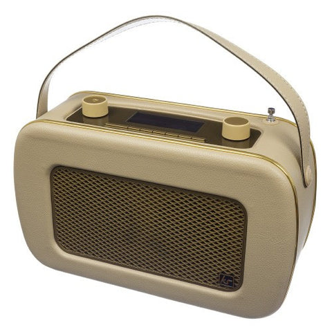 kitsound ksjivcrm cream and gold retro dab radio