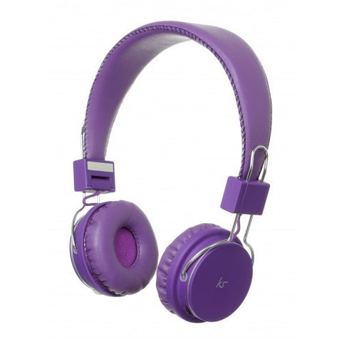 purple kitsound manhattan bluetooth headphones