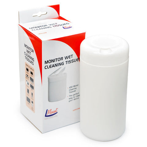 Monitor, Camera, Tv, Satnav, Phone, Tablet Wet Cleaning Tissues L Mount LMTEC008