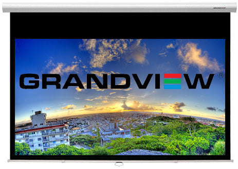 grandview cyber series manual pull down projector screen
