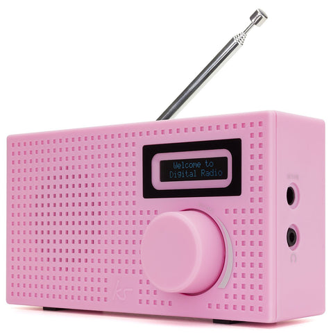 kitsound pink mini dab radio