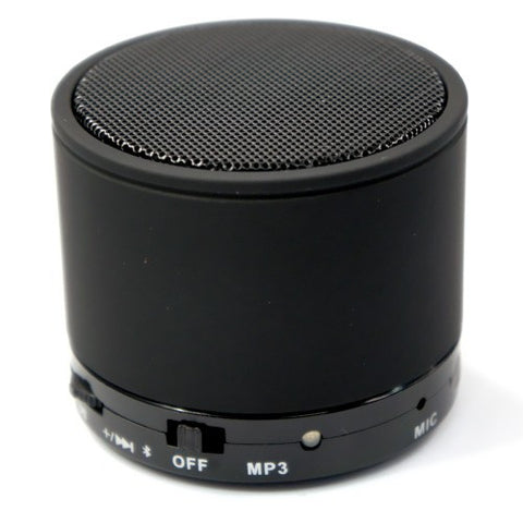 Bluetooth Rechargeable Travel Speaker For smartphone Handsfree Function Micro SD Slot. Black