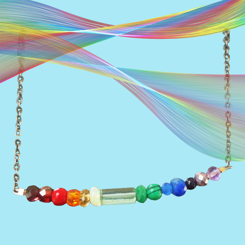 Arco Iris bar necklace