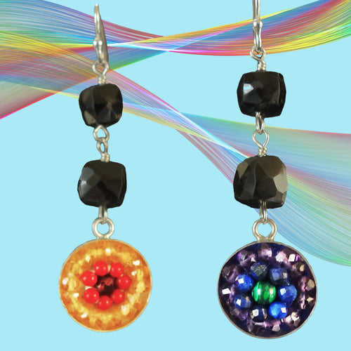 A Rainbow is a Promise mosaic earrings