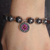 The Duchess ruby and hematite mosaic bracelet