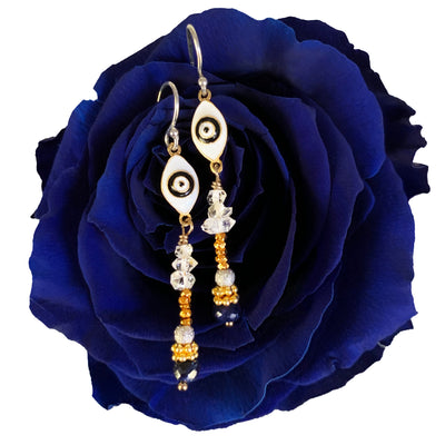 Blue Eyes Dancing in the Rain earring
