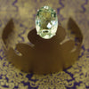 Faceted Presiolite (green amethyst) bejeweled ring