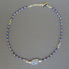 Gold, Silverite, and Blue Sapphire necklace