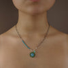 Inner Peace: topaz, peridot, and turquoise mosaic necklace