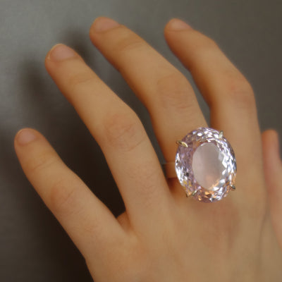 Pink Amethystilicious faceted gem ring