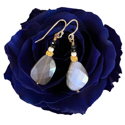 Better than Blue Suede Shoes silverite and sapphire ear