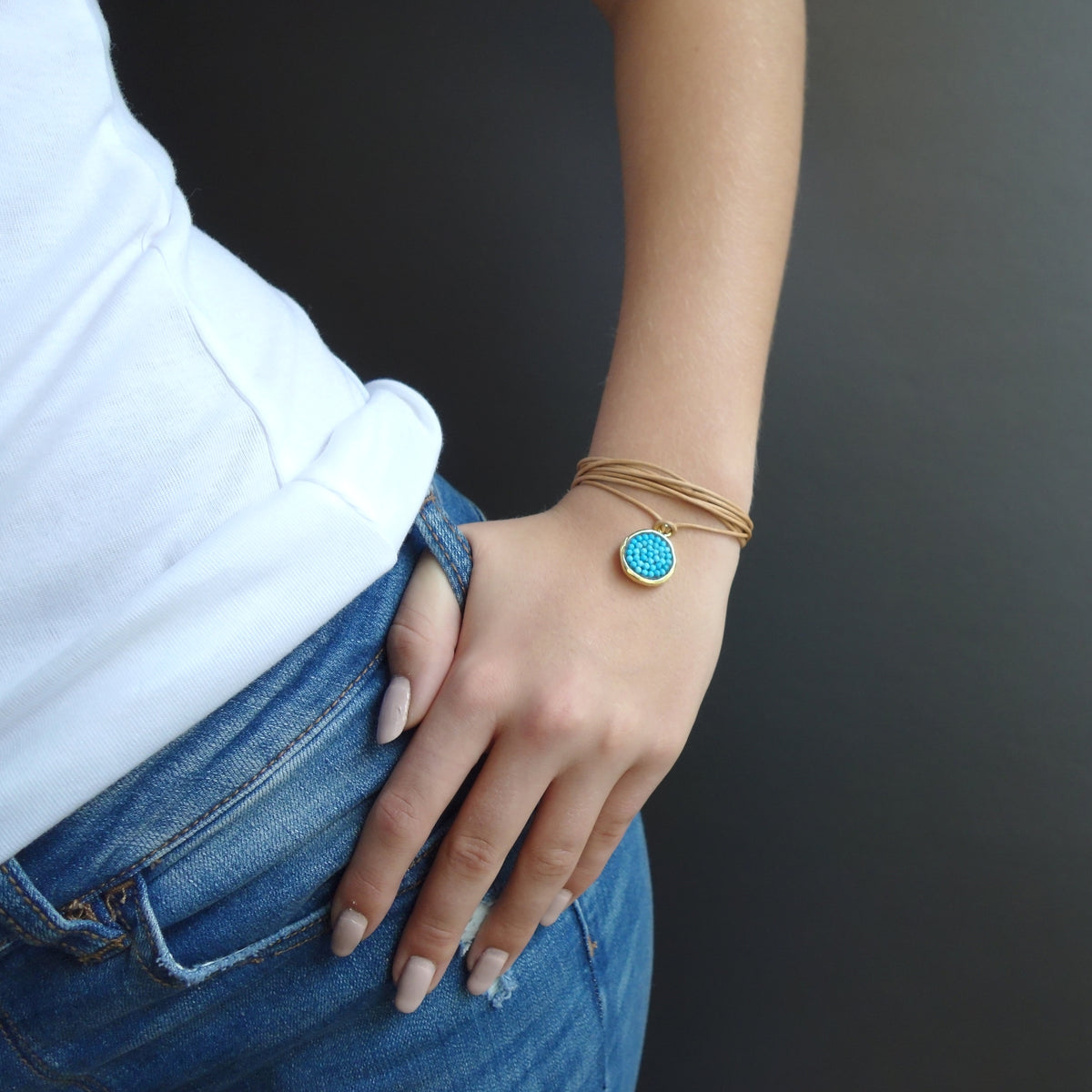 Turquoise Iconic Mosaic Wrap Bracelet and/or Necklace