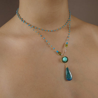 Gentle Spirit necklace: turquoise and chrysocolla