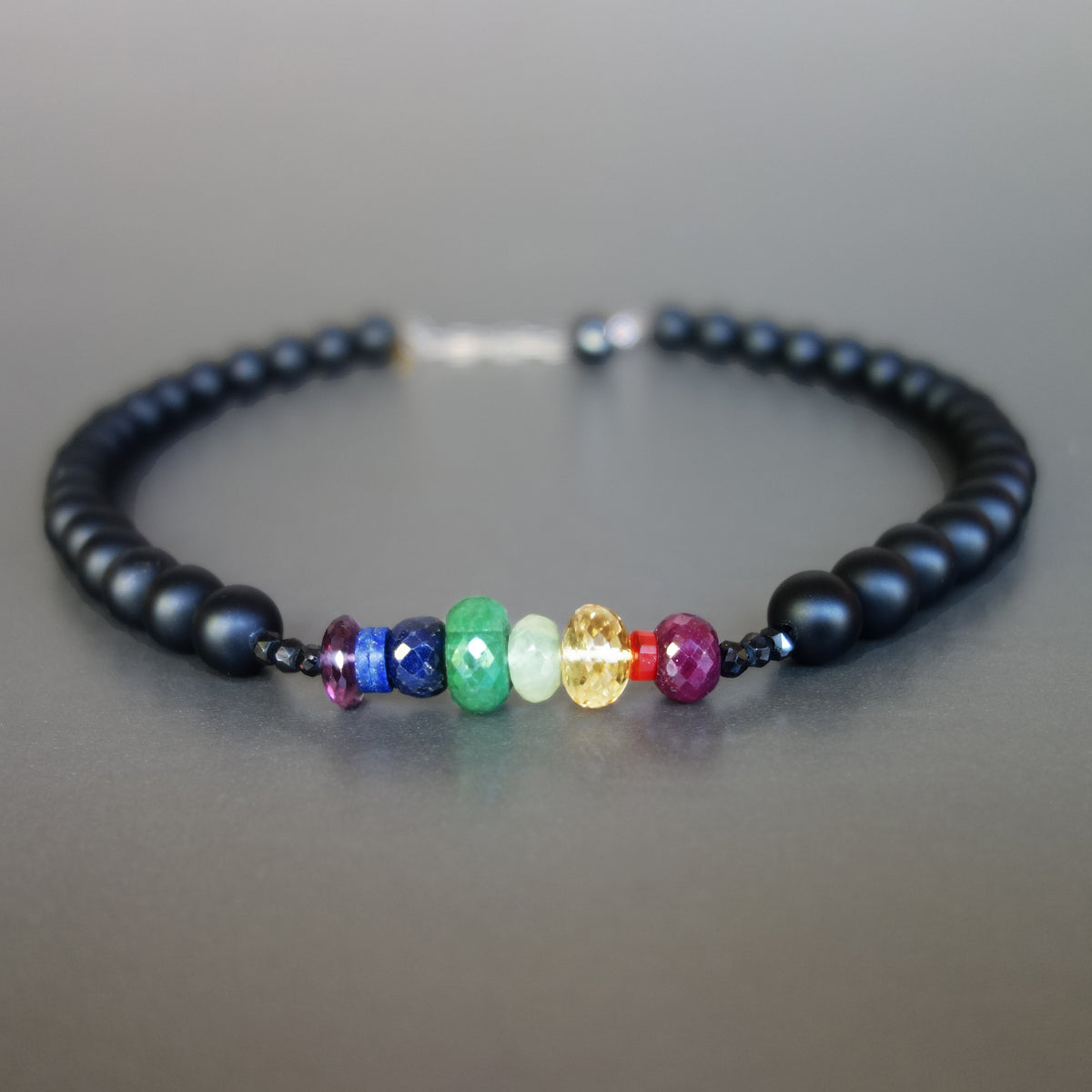 You are the Sunshine of My Life: rainbow gem necklace