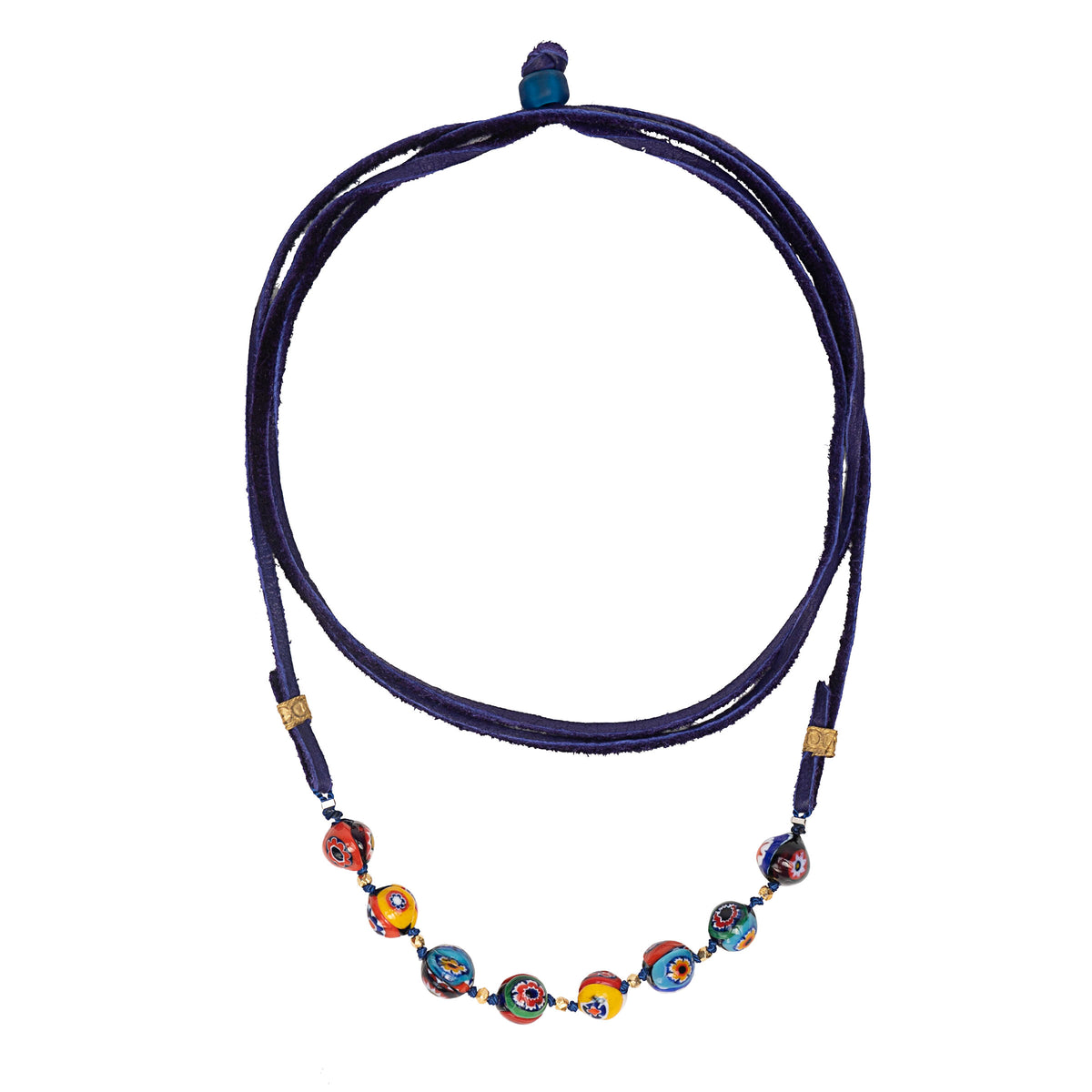 Wanderlust Murano Millefiori glass wrap bracelet and necklace (Murano)