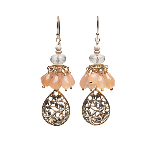Wanderlust Gold and Silver Lace Teardrop Earring (Florence)