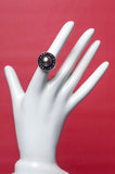 Arzouman Luxe Black South Sea Pearl surrounded by Black Sapphire