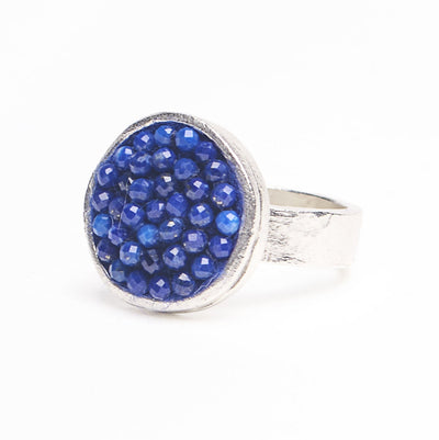 Iconic Faceted Lapis Lazuli Ring