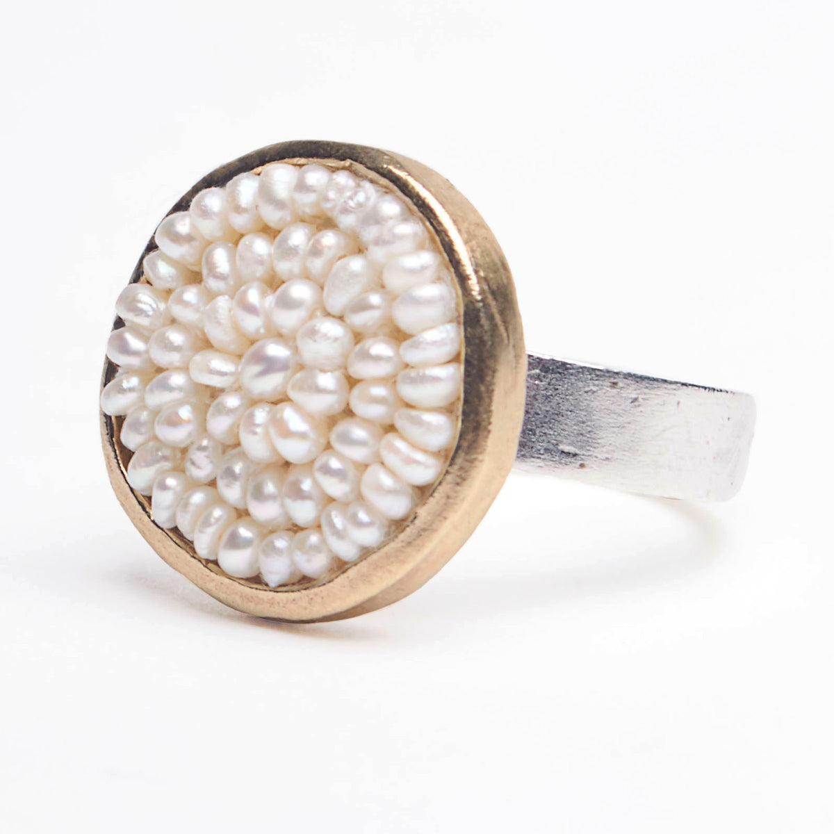 Iconic Pearl Mosaic Ring