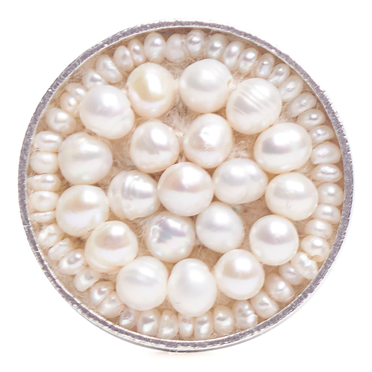 White Pearl Iconic Mosaic Ring