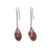 Faceted Garnet and Pink Sapphire Mosaic Earrings